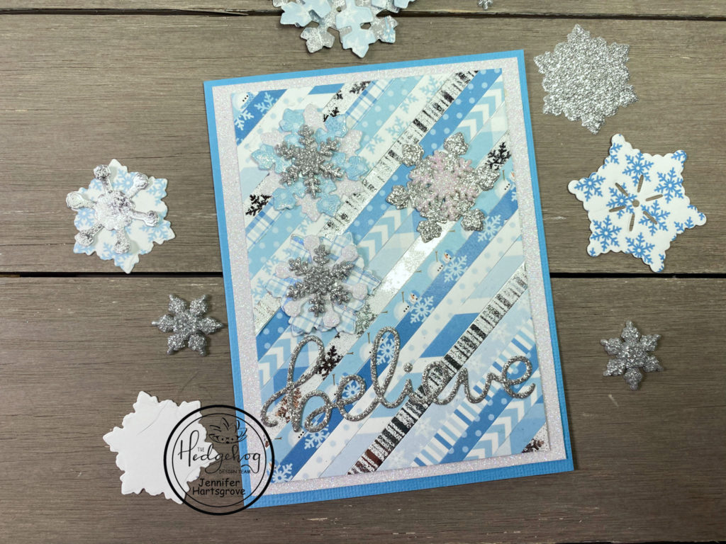 """Believe"" snowflake card."