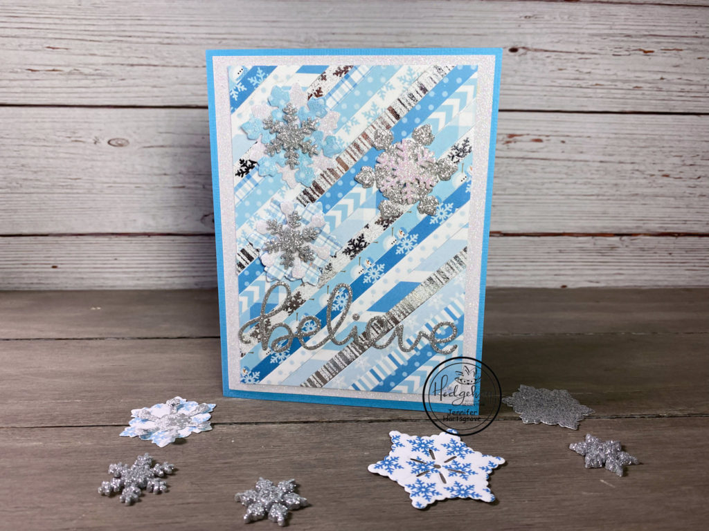 Snowflake card by Jennifer Hartsgrove