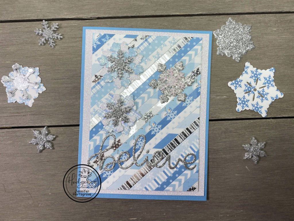 Hey Krafty Friends, Jen here from Katahdin Krafts, I'm excited to be back on the blog today, with this fun snowflake card.
